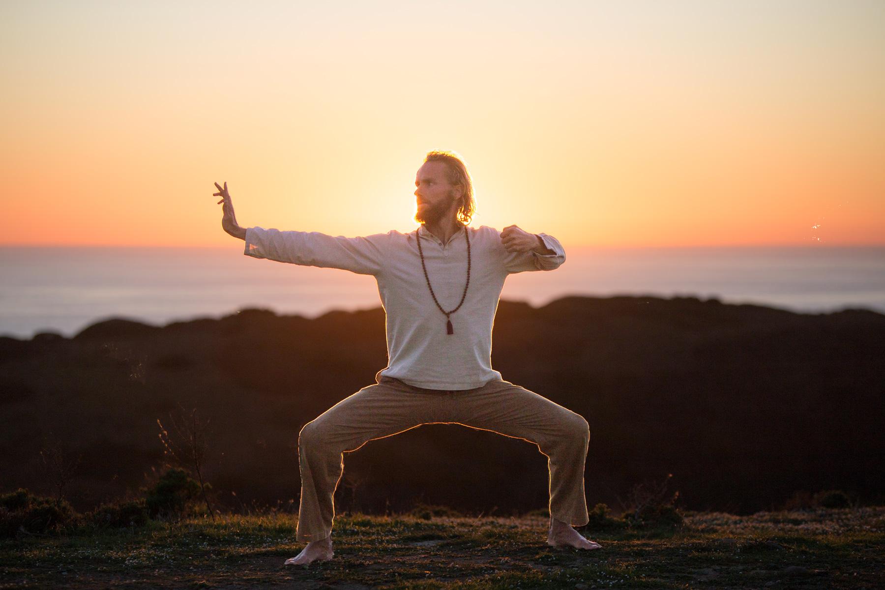 Instructor practicing qigong