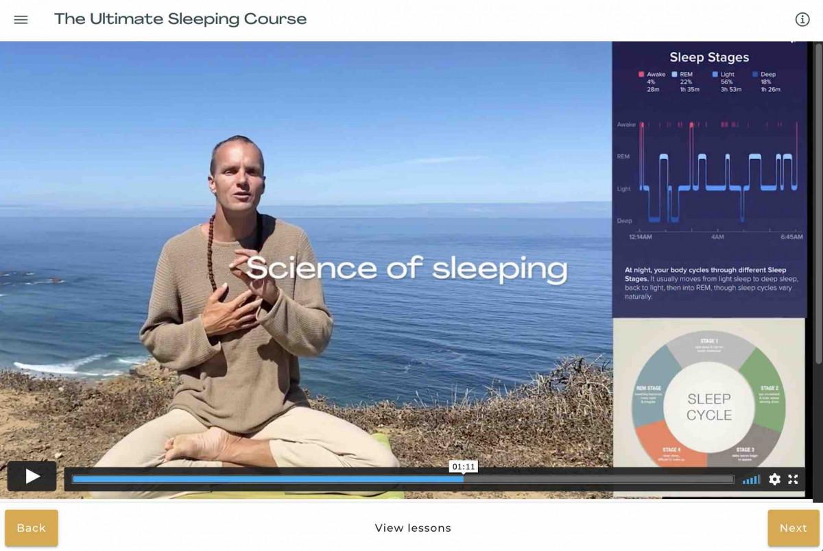 Sleeping course image cutout 2